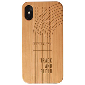Track and Field Engraved Wood IPhone® Case - Track And Field Lanes