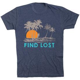 Running Short Sleeve T-Shirt - Run Club Find Lost (White Shirt)