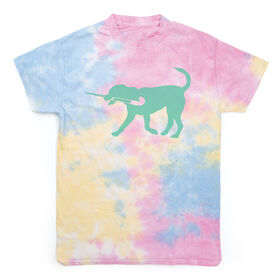 Field Hockey Short Sleeve T-Shirt - Field Hockey Dog Tie Dye