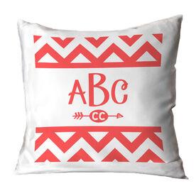 Cross Country Throw Pillow Chevron Monogram