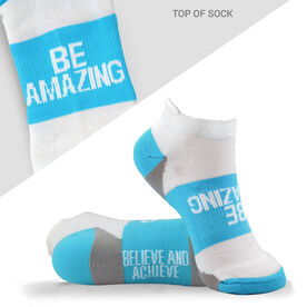 Socrates® Woven Performance Socks Be Amazing (Baby Blue)