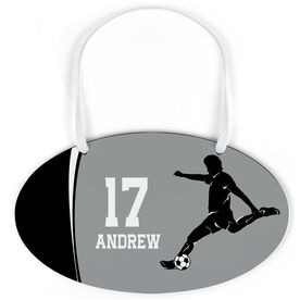 Soccer Oval Sign - Personalized Soccer Guy