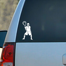 Lacrosse Vinyl Car Decal Goalie Silhouette