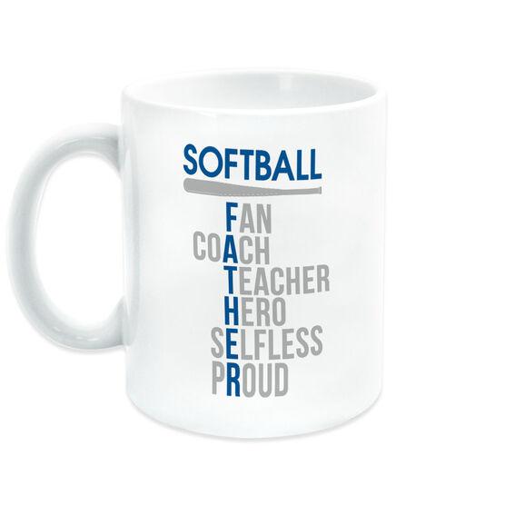 Softball Coffee Mug - Softball Father Words