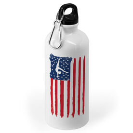 Gymnastics 20 oz. Stainless Steel Water Bottle - American Flag