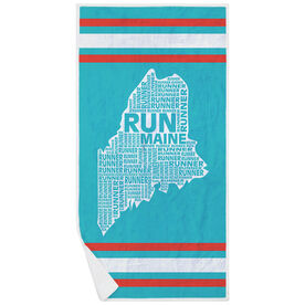 Running Premium Beach Towel - Maine State Runner