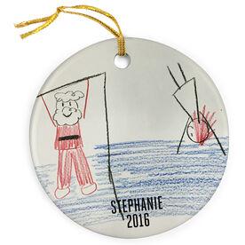 Gymnastics Porcelain Ornament Your Artwork Here