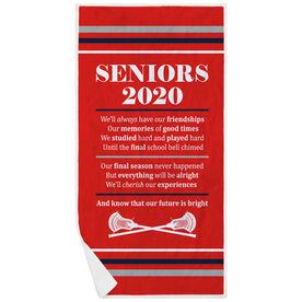 Guys Lacrosse Premium Beach Towel - Seniors 2020 Our Future Is Bright