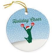Cheerleading Porcelain Ornament Holiday Cheer