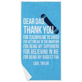 Snowboarding Premium Beach Towel - Dear Dad