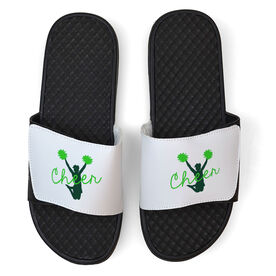 Cheerleading White Slide Sandals - Jump with Joy
