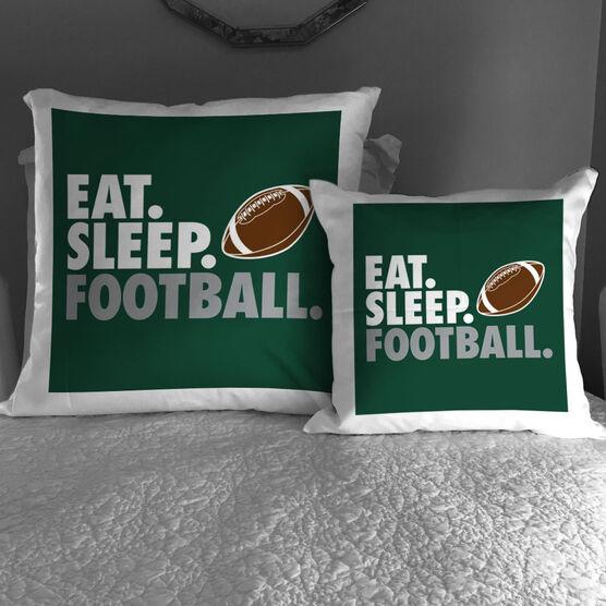 Football Decorative Pillow - Eat Sleep Football