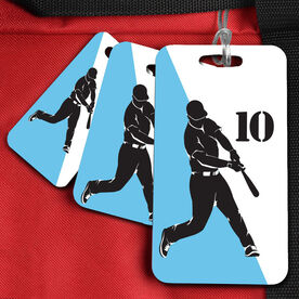Baseball Bag/Luggage Tag Personalized Baseball Player Silhouette Guy