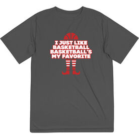 Basketball Short Sleeve Performance Tee - Basketball's My Favorite