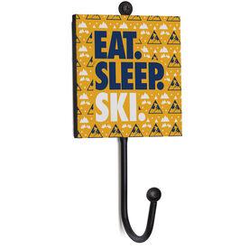Skiing Medal Hook - Eat. Sleep. Ski.