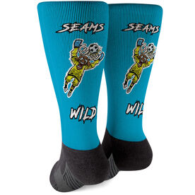 Seams Wild Soccer Printed Mid-Calf Socks - Blockler