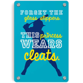 Softball Metal Wall Art Panel - Forget The Glass Slippers