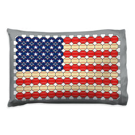 Baseball Pillowcase - Flag