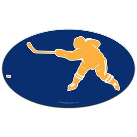 Hockey Oval Car Magnet Shooting
