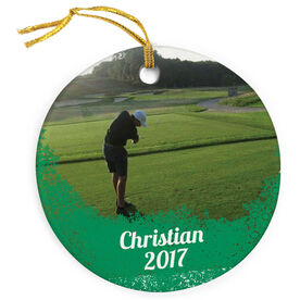 Golf Porcelain Ornament Your Photo Here