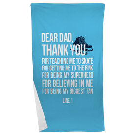 Figure Skating Beach Towel Dear Dad