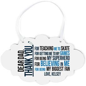 Hockey Cloud Sign - Dear Dad