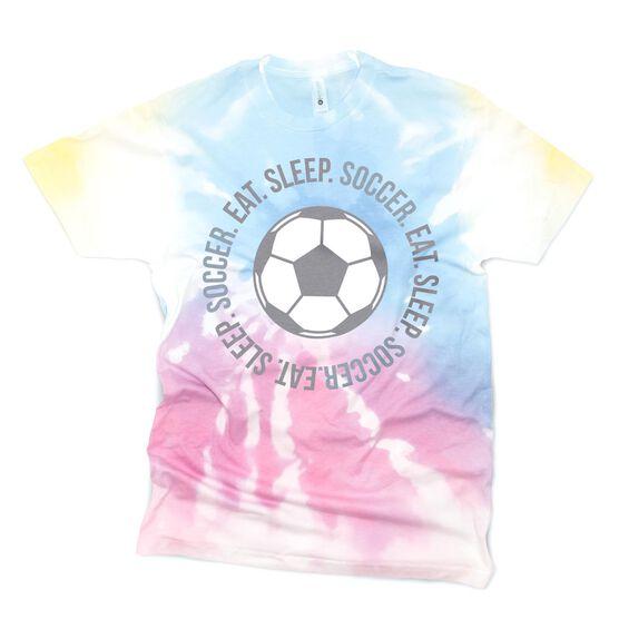 Soccer Short Sleeve T-Shirt - Eat Sleep Soccer Tie-Dye