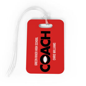 Rugby Bag/Luggage Tag - Personalized Coach