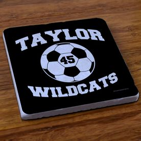Soccer Stone Coaster Personalized Soccer Ball