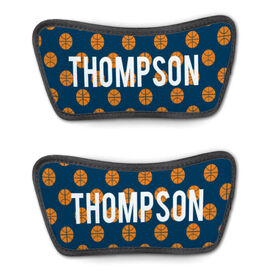 Basketball Repwell™ Sandal Straps - Personalized Basketball Pattern