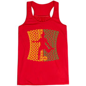 Soccer Flowy Racerback Tank Top - All Soccer Female