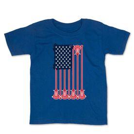 Guys Lacrosse Toddler Short Sleeve Tee - American Flag