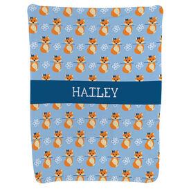 Hockey Baby Blanket - Hockey Fox Pattern