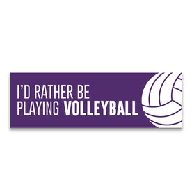 """Volleyball 12.5"""" X 4"""" Removable Wall Tile - I'd Rather Be Playing Volleyball"""