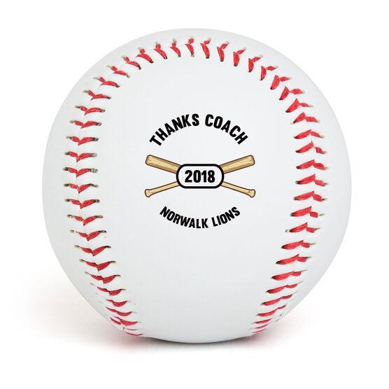 Personalized Thanks Coach Baseball