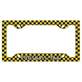 Football Taxi License Plate Holder