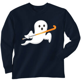Field Hockey T-Shirt Long Sleeve Field Hockey Ghost