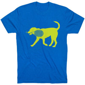 Tennis Tshirt Short Sleeve Dennis The Tennis Dog