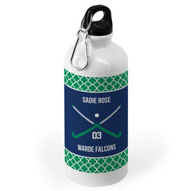 Field Hockey 20 oz. Stainless Steel Water Bottle - Team with Crossed Sticks