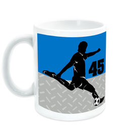 Soccer Coffee Mug Personalized 2 Tier Guy