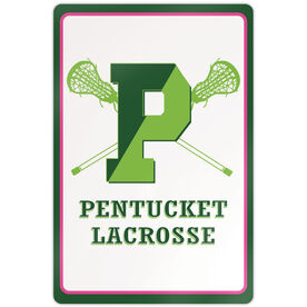 "Room Sign (18""x12"") - Pentucket Youth Girls Lacrosse Logo"