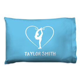Figure Skating Pillowcase - Personalized Heart Skater