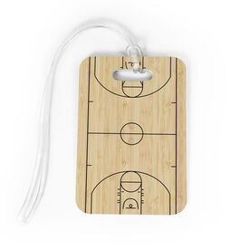 Basketball Bag/Luggage Tag - Basketball Court