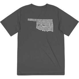 Men's Running Short Sleeve Tech Tee - Oklahoma State Runner