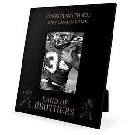 Football Engraved Picture Frame - Band Of Brothers