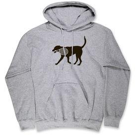Tennis Hooded Sweatshirt - Tanner the Tennis Dog