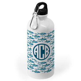 Fly Fishing 20 oz. Stainless Steel Water Bottle - Personalized Fly Fishing Pattern Monogram