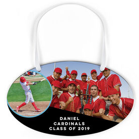 Baseball Oval Sign - Class Of Team and Player Photo