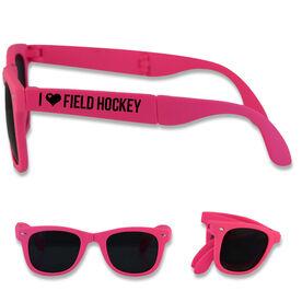 Foldable Field Hockey Sunglasses I Heart Field Hockey