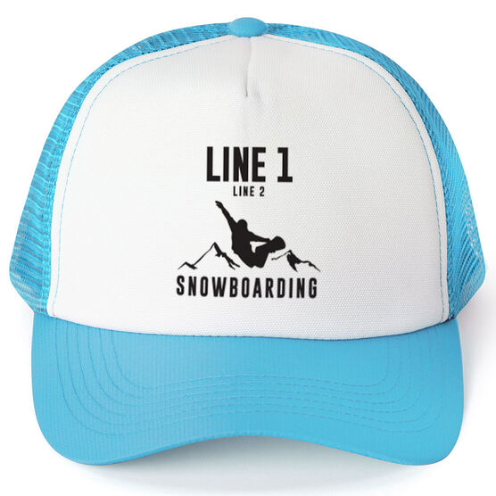Snowboarding Trucker Hat - Team Name With Text